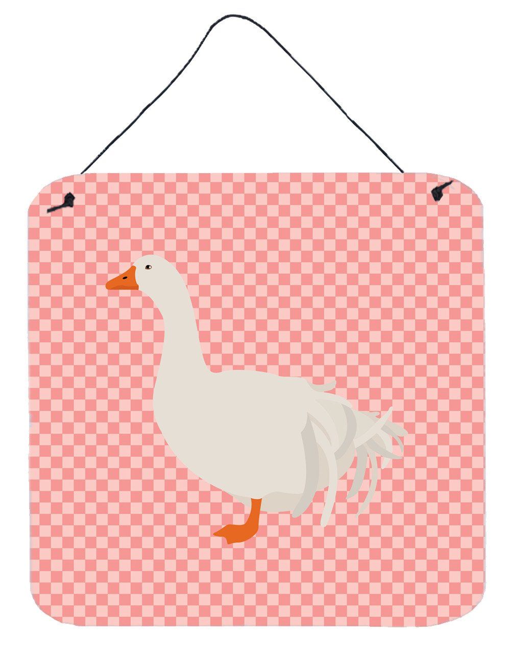 Sebastopol Goose Pink Check Wall or Door Hanging Prints BB7902DS66 by Caroline's Treasures
