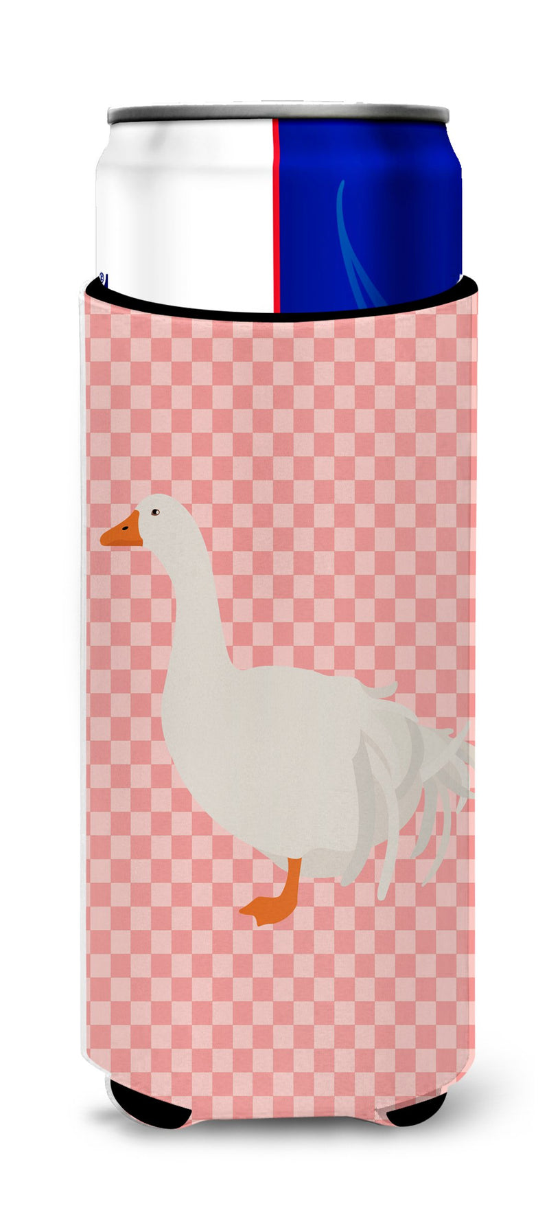 Buy this Sebastopol Goose Pink Check Michelob Ultra Hugger for slim cans