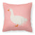 Sebastopol Goose Pink Check Fabric Decorative Pillow BB7902PW1818 by Caroline's Treasures