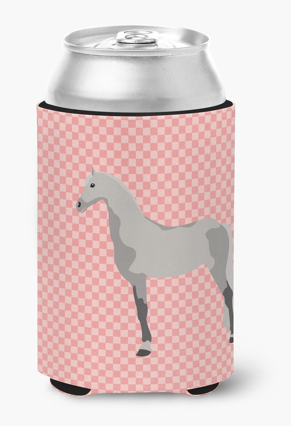 Orlov Trotter Horse Pink Check Can or Bottle Hugger BB7908CC by Caroline's Treasures