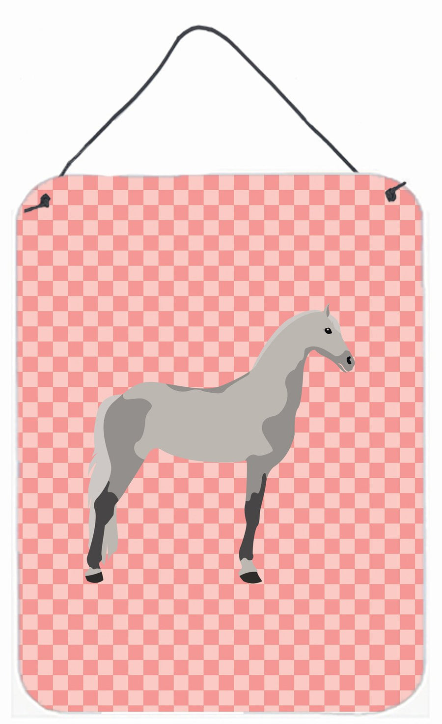 Buy this Orlov Trotter Horse Pink Check Wall or Door Hanging Prints BB7908DS1216