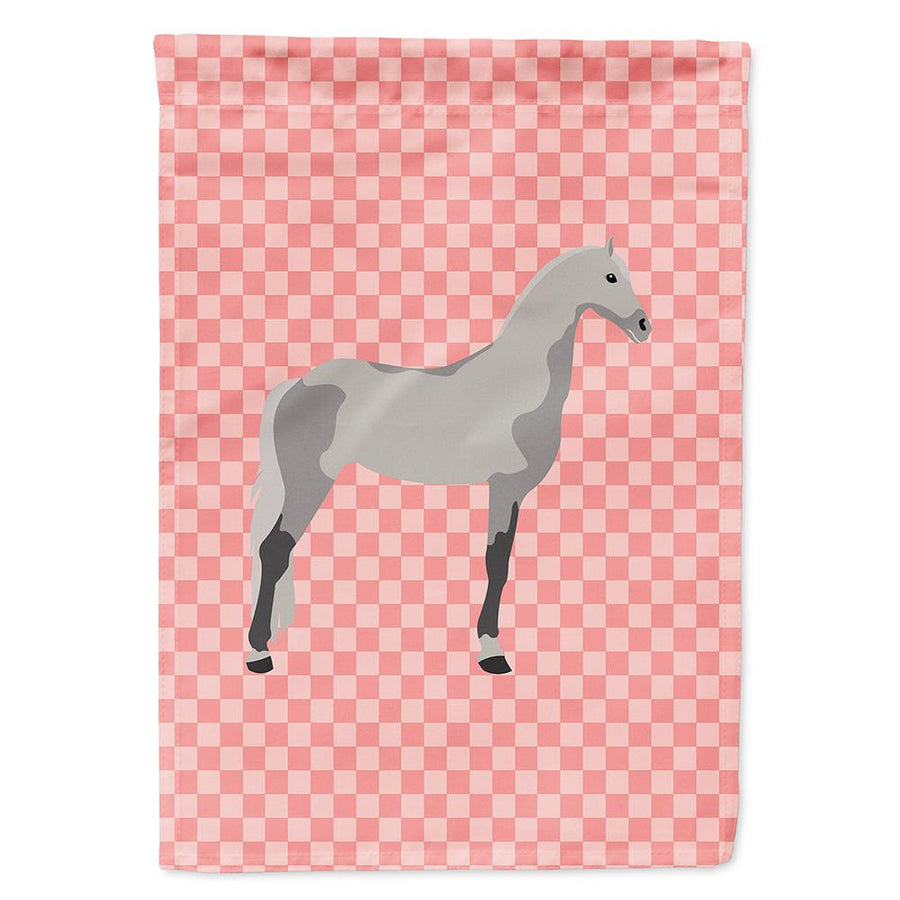 Buy this Orlov Trotter Horse Pink Check Flag Garden Size