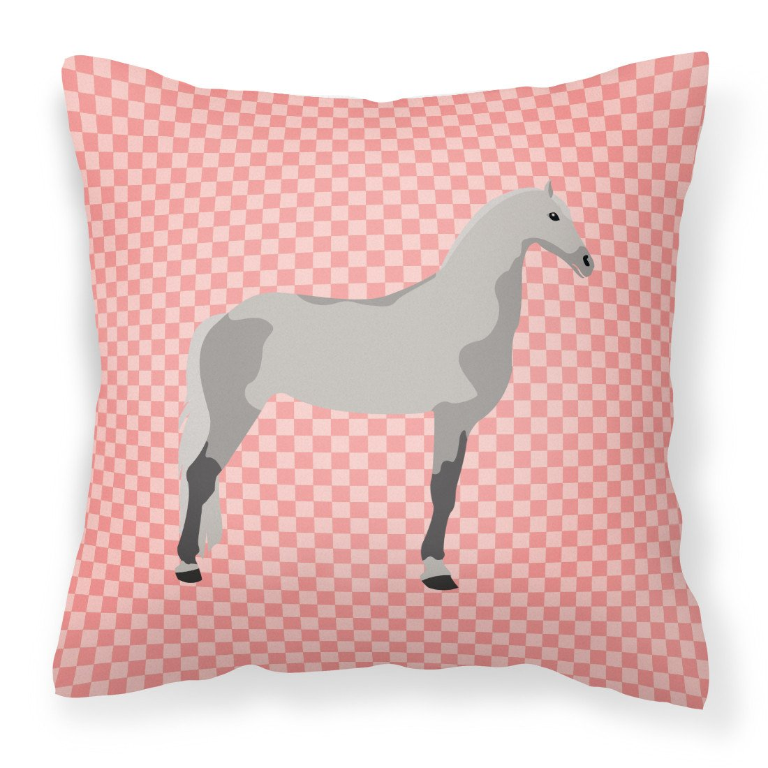 Buy this Orlov Trotter Horse Pink Check Fabric Decorative Pillow BB7908PW1818