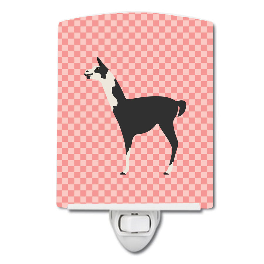 Buy this Llama Q' Ara Pink Check Ceramic Night Light BB7918CNL