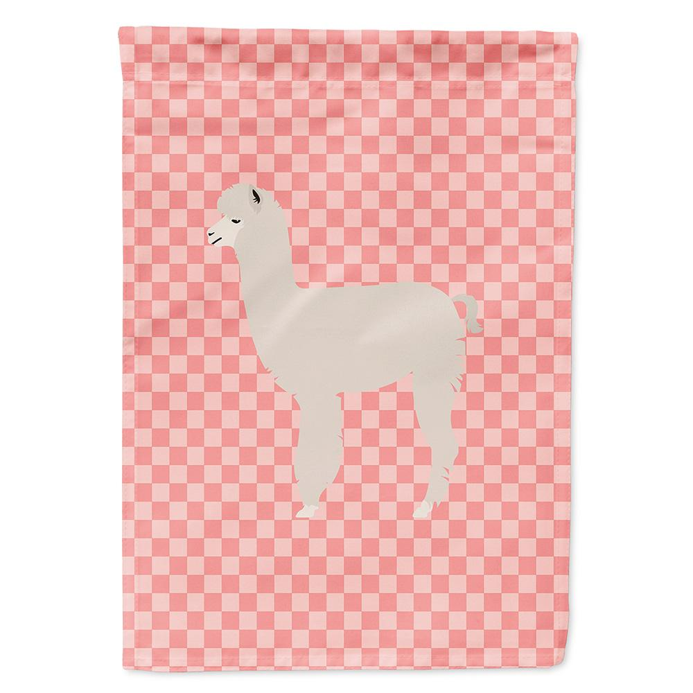 Buy this Alpaca Pink Check Flag Garden Size