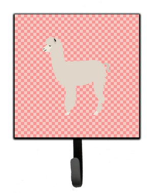 Buy this Alpaca Pink Check Leash or Key Holder
