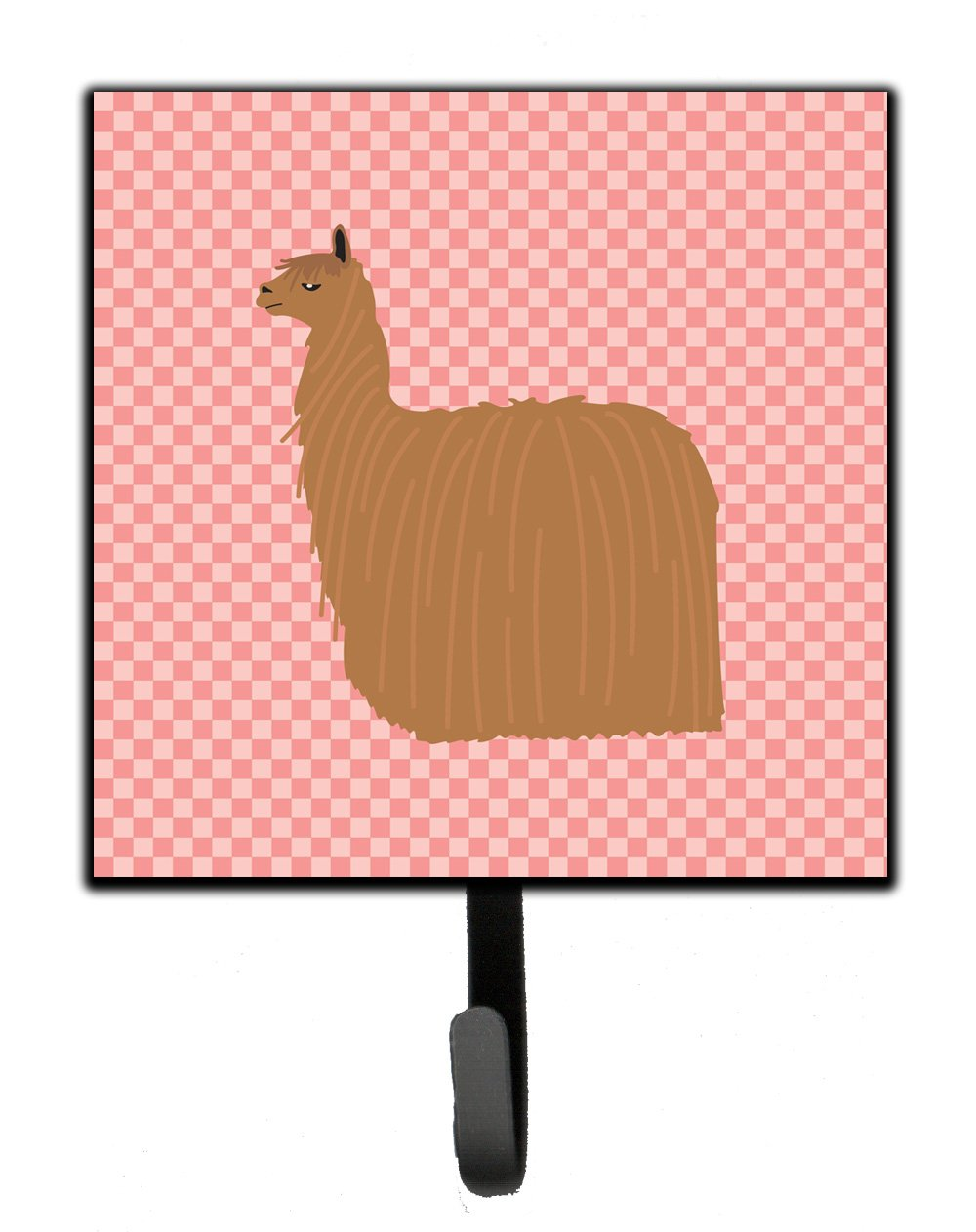 Buy this Alpaca Suri Pink Check Leash or Key Holder
