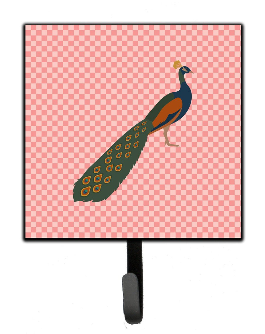 Buy this Indian Peacock Peafowl Pink Check Leash or Key Holder