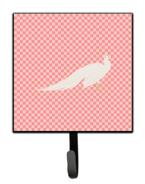 Buy this White Peacock Peafowl Pink Check Leash or Key Holder