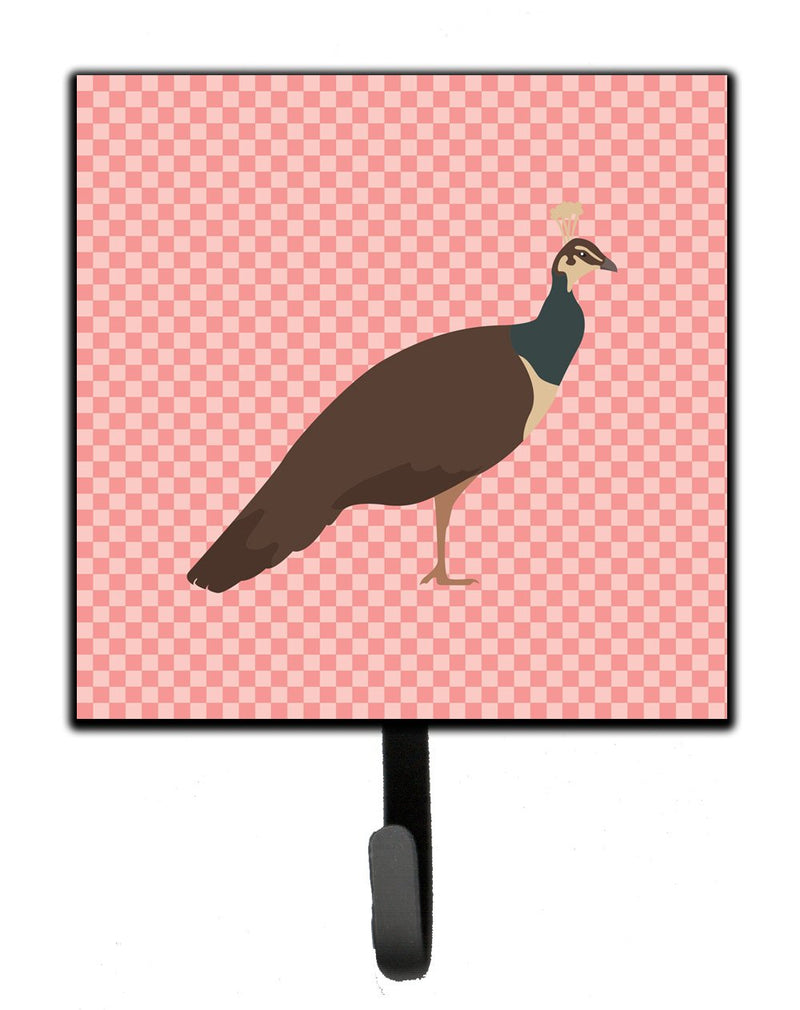 Buy this Indian Peahen Peafowl Pink Check Leash or Key Holder