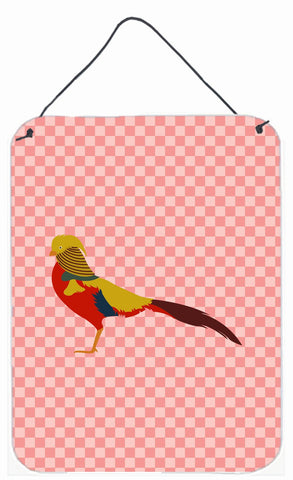 Buy this Golden or Chinese Pheasant Pink Check Wall or Door Hanging Prints BB7928DS1216