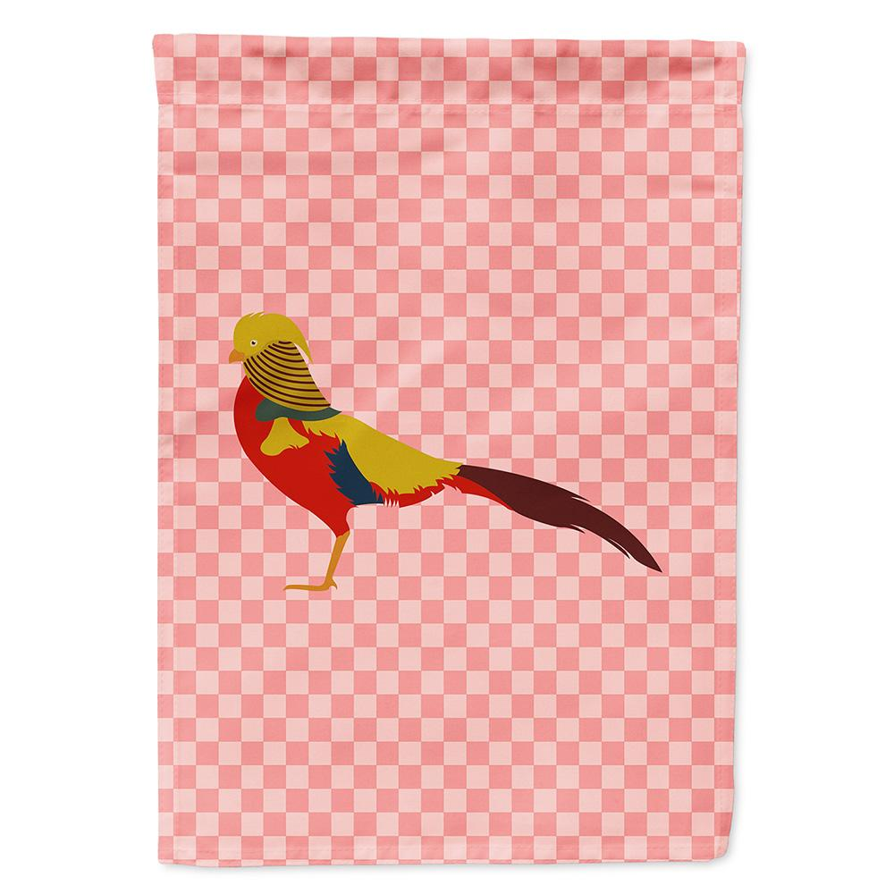 Buy this Golden or Chinese Pheasant Pink Check Flag Garden Size