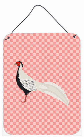 Buy this Silver Pheasant Pink Check Wall or Door Hanging Prints BB7929DS1216