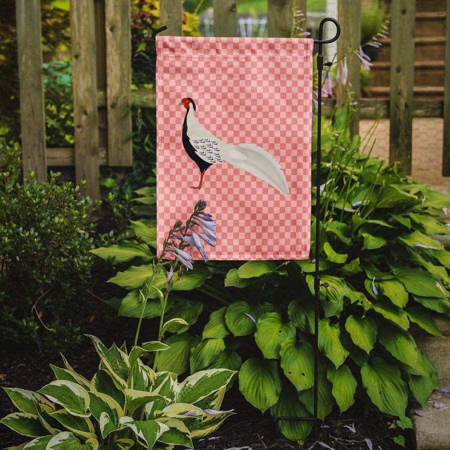 Buy this Silver Pheasant Pink Check Flag Garden Size