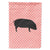 Buy this Devon Large Black Pig Pink Check Flag Garden Size