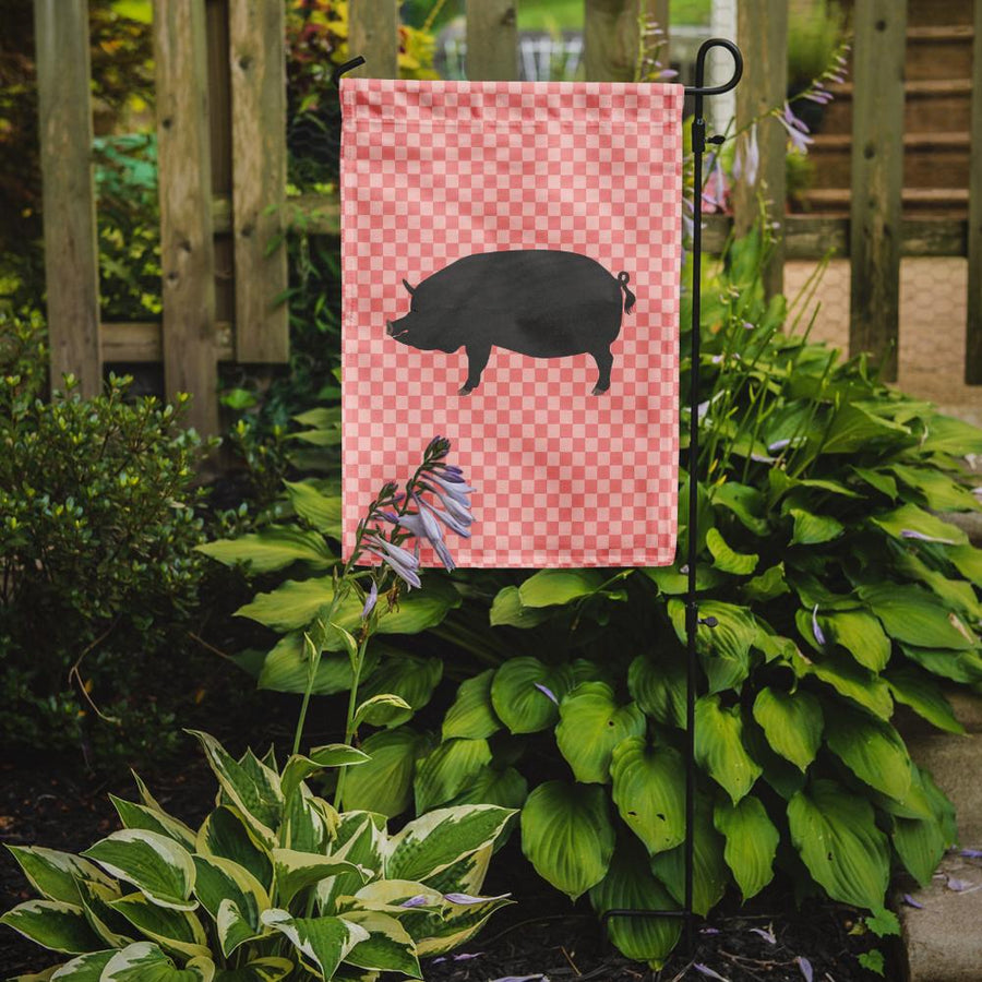 Buy this Berkshire Pig Pink Check Flag Garden Size