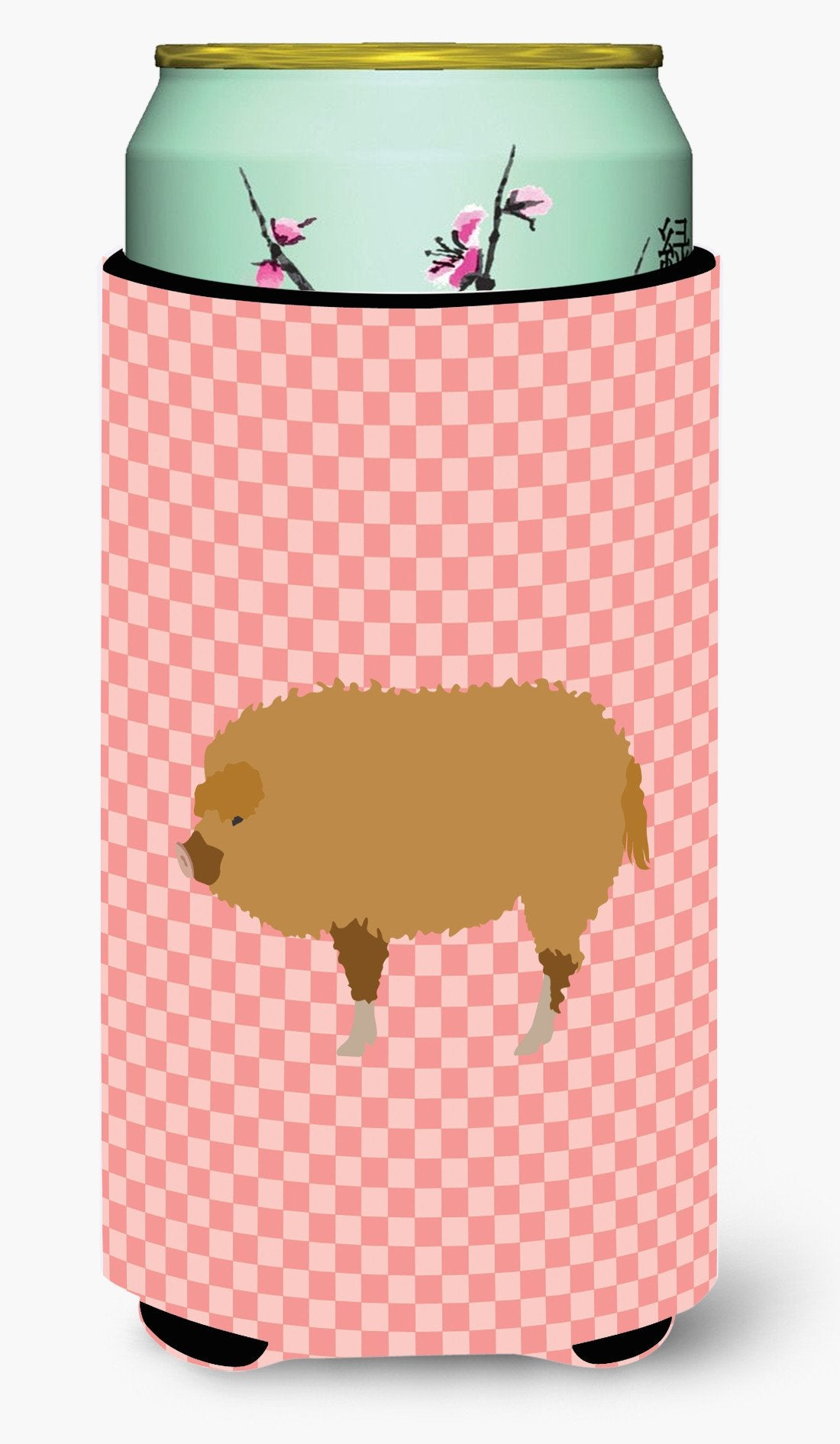 Hungarian Mangalica Pig Pink Check Tall Boy Beverage Insulator Hugger BB7934TBC by Caroline's Treasures