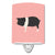 Hampshire Pig Pink Check Ceramic Night Light BB7939CNL by Caroline's Treasures