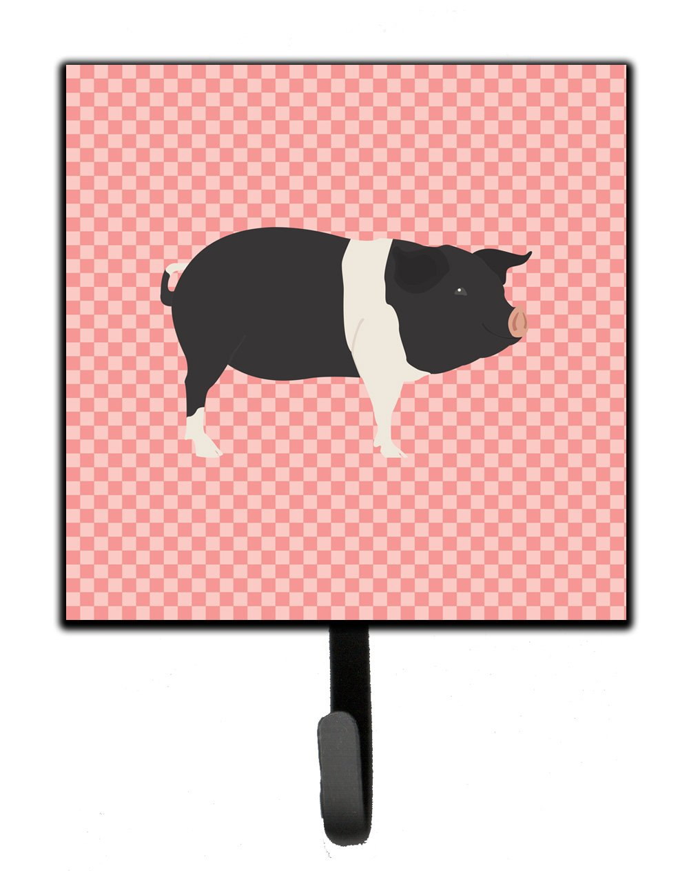 Hampshire Pig Pink Check Leash or Key Holder by Caroline's Treasures