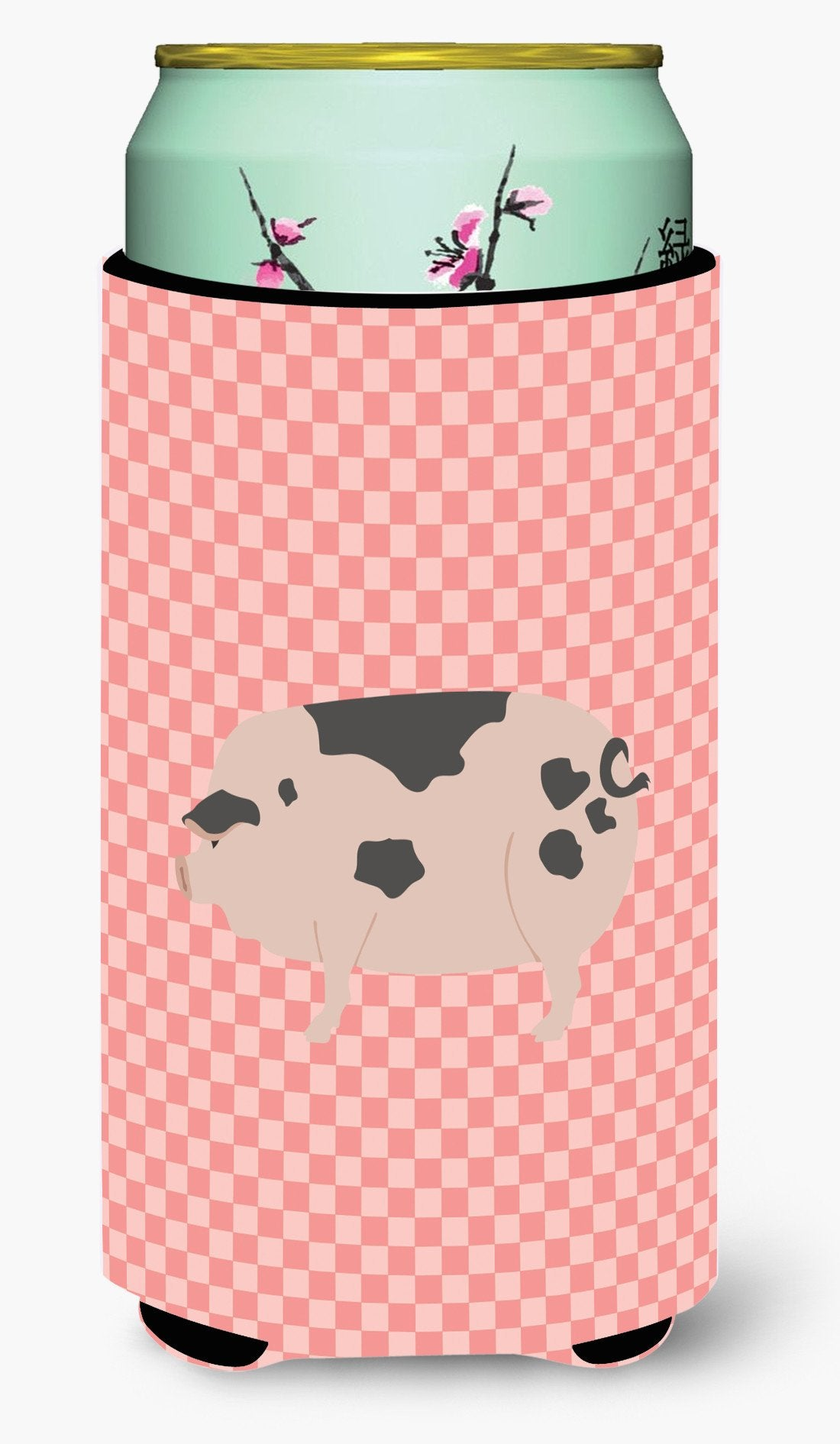 Gloucester Old Spot Pig Pink Check Tall Boy Beverage Insulator Hugger BB7940TBC by Caroline's Treasures