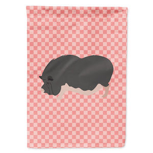 Buy this Vietnamese Pot-Bellied Pig Pink Check Flag Garden Size