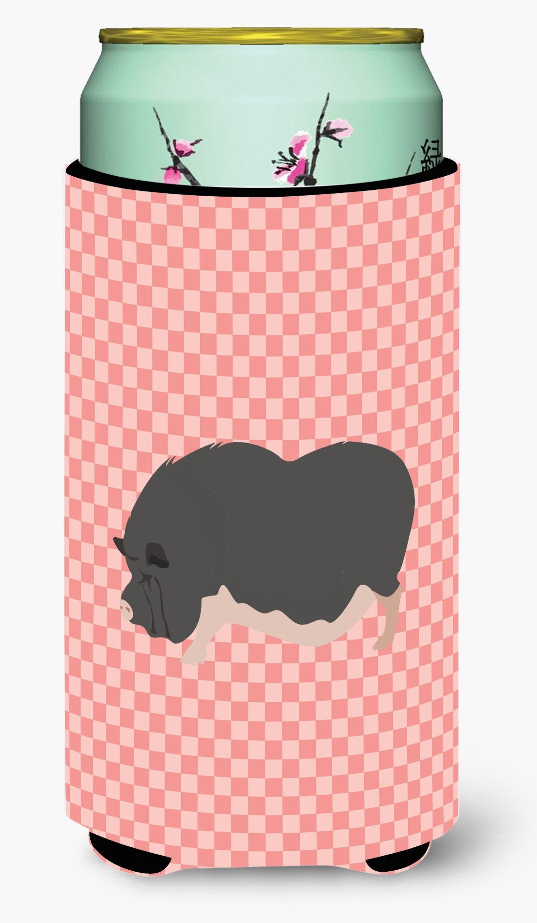 Vietnamese Pot-Bellied Pig Pink Check Tall Boy Beverage Insulator Hugger BB7941TBC by Caroline's Treasures