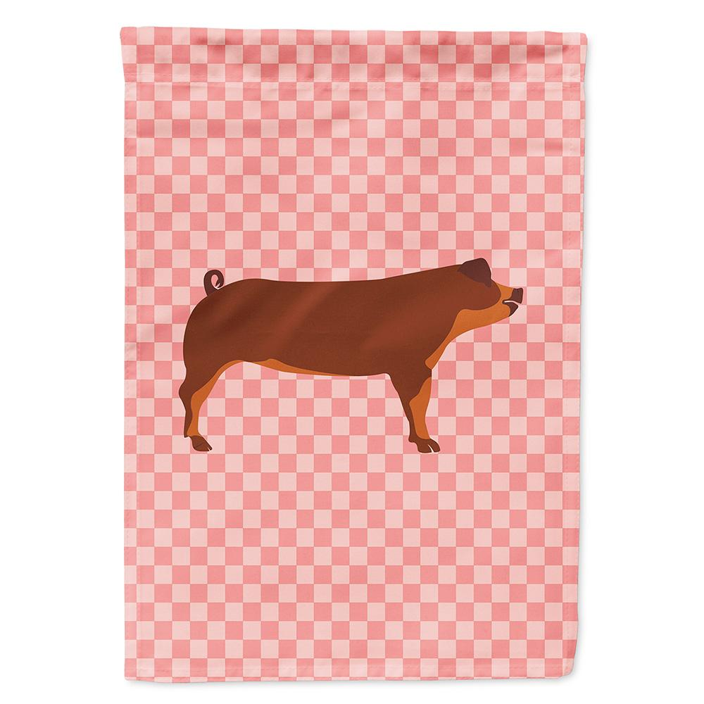 Buy this Duroc Pig Pink Check Flag Garden Size