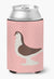 Large Pigeon Pink Check Can or Bottle Hugger BB7943CC by Caroline's Treasures