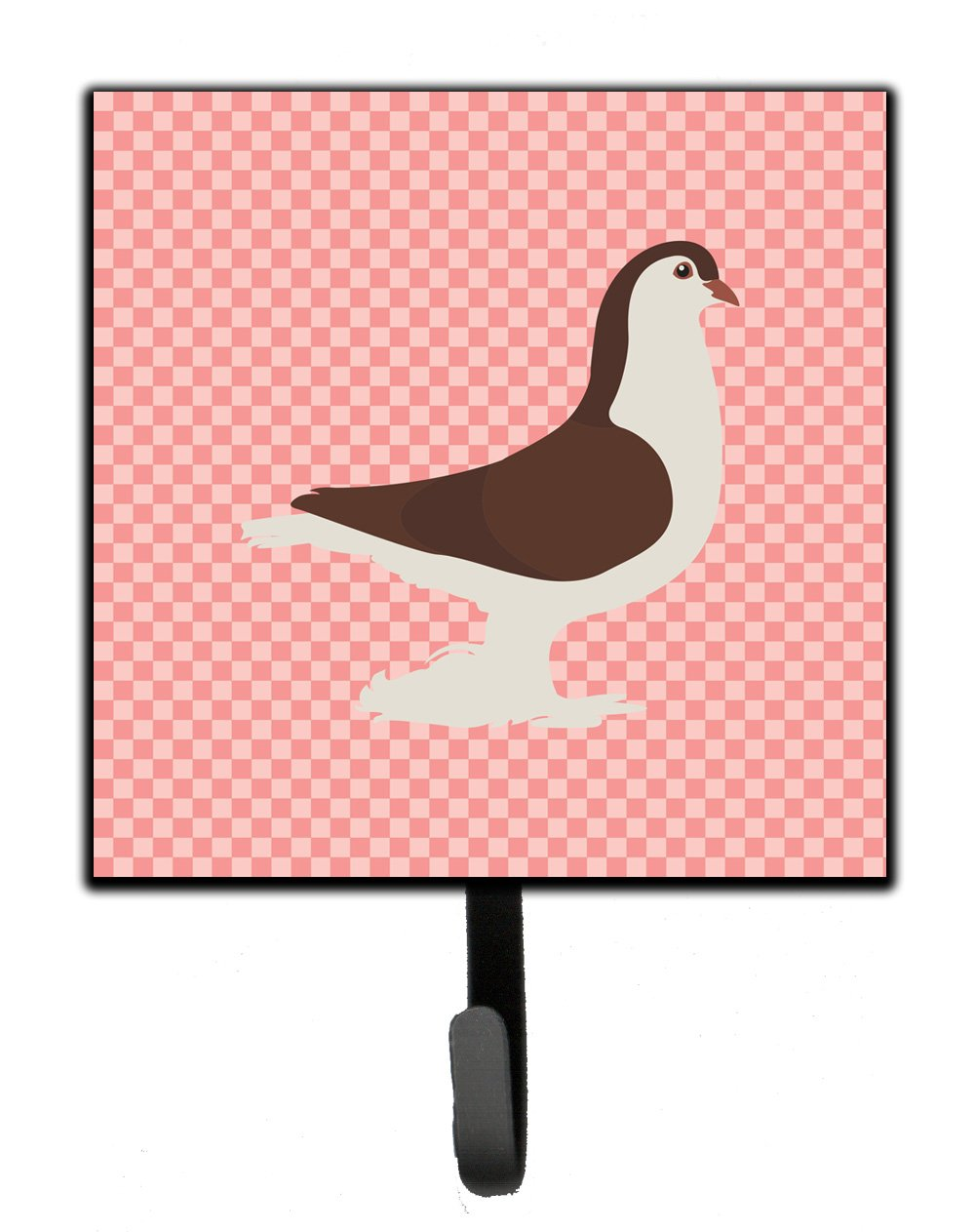 Large Pigeon Pink Check Leash or Key Holder by Caroline's Treasures