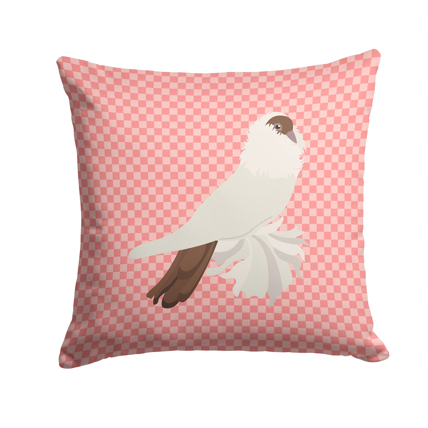 Buy this German Helmet Pigeon Pink Check Fabric Decorative Pillow BB7944PW1414