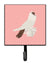 Buy this German Helmet Pigeon Pink Check Leash or Key Holder