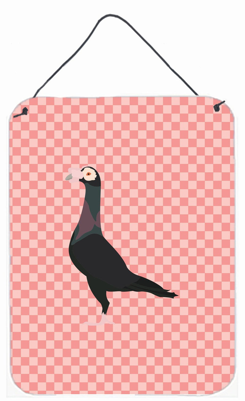 Buy this English Carrier Pigeon Pink Check Wall or Door Hanging Prints BB7945DS1216