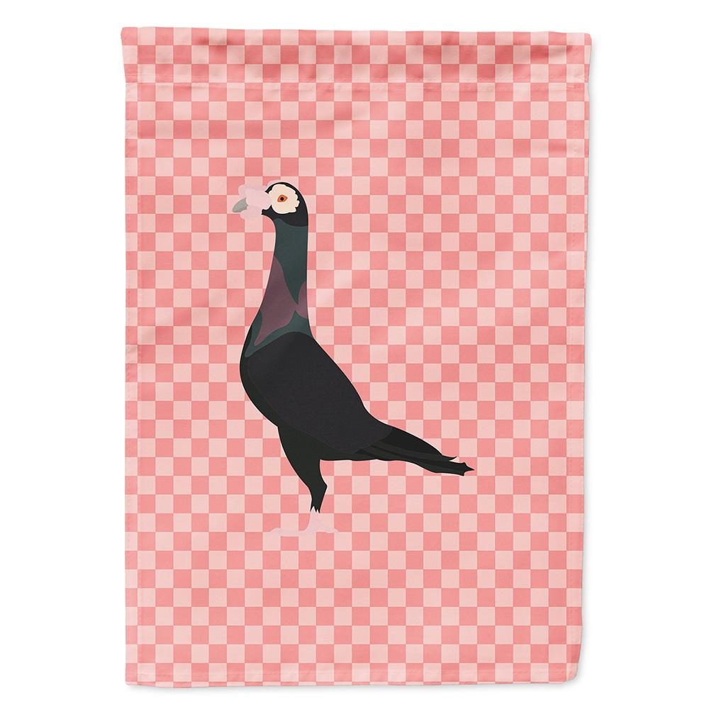 Buy this English Carrier Pigeon Pink Check Flag Garden Size