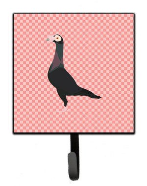 Buy this English Carrier Pigeon Pink Check Leash or Key Holder