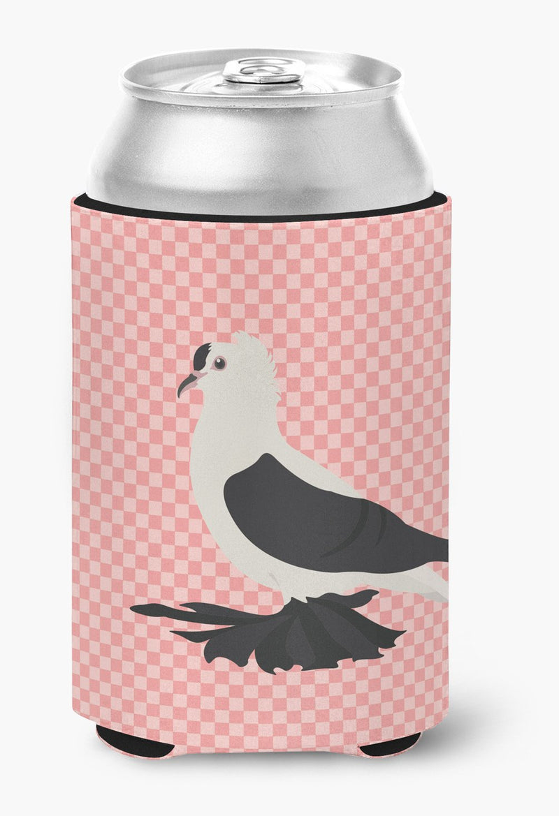 Buy this Saxon Fairy Swallow Pigeon Pink Check Can or Bottle Hugger BB7946CC