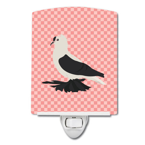 Buy this Saxon Fairy Swallow Pigeon Pink Check Ceramic Night Light BB7946CNL
