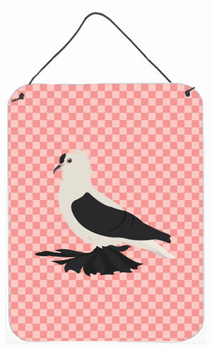 Buy this Saxon Fairy Swallow Pigeon Pink Check Wall or Door Hanging Prints BB7946DS1216