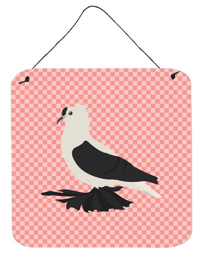 Buy this Saxon Fairy Swallow Pigeon Pink Check Wall or Door Hanging Prints BB7946DS66