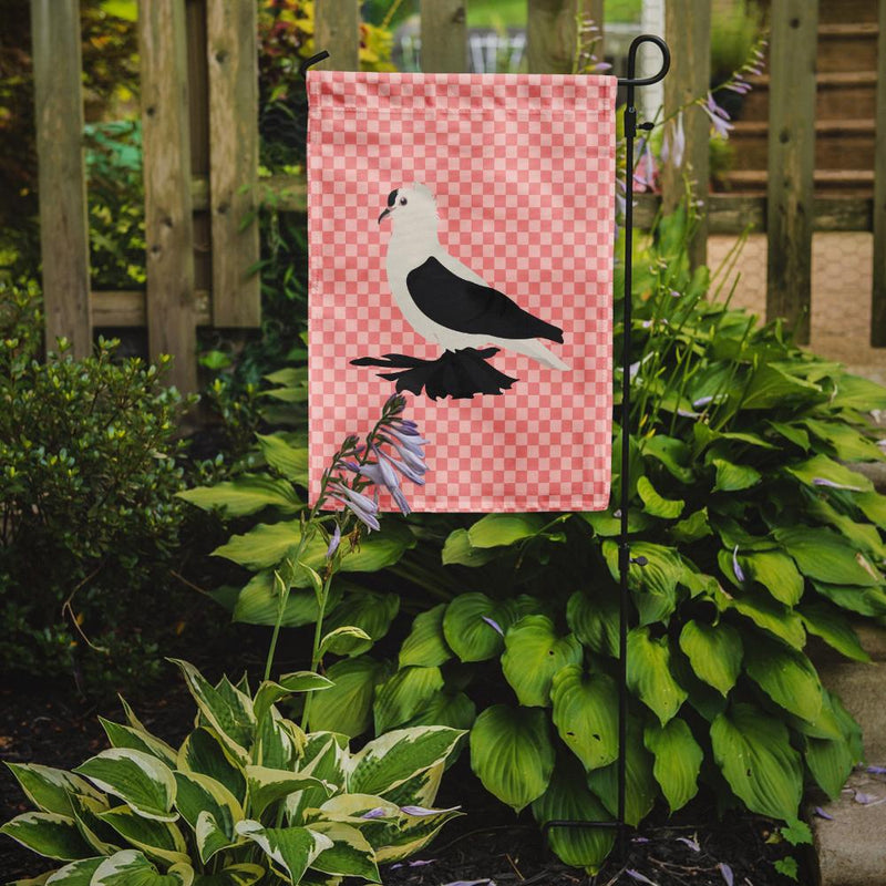 Buy this Saxon Fairy Swallow Pigeon Pink Check Flag Garden Size