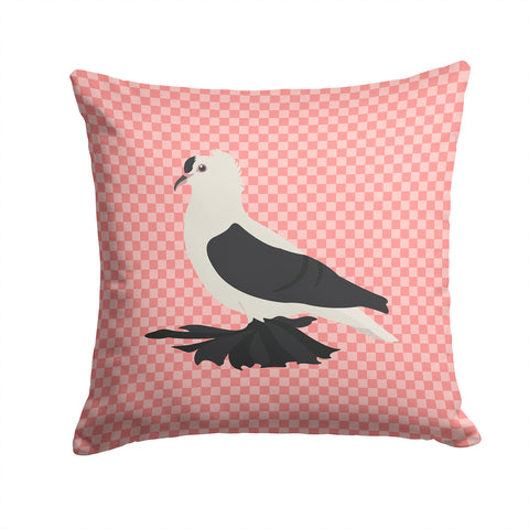 Buy this Saxon Fairy Swallow Pigeon Pink Check Fabric Decorative Pillow BB7946PW1414