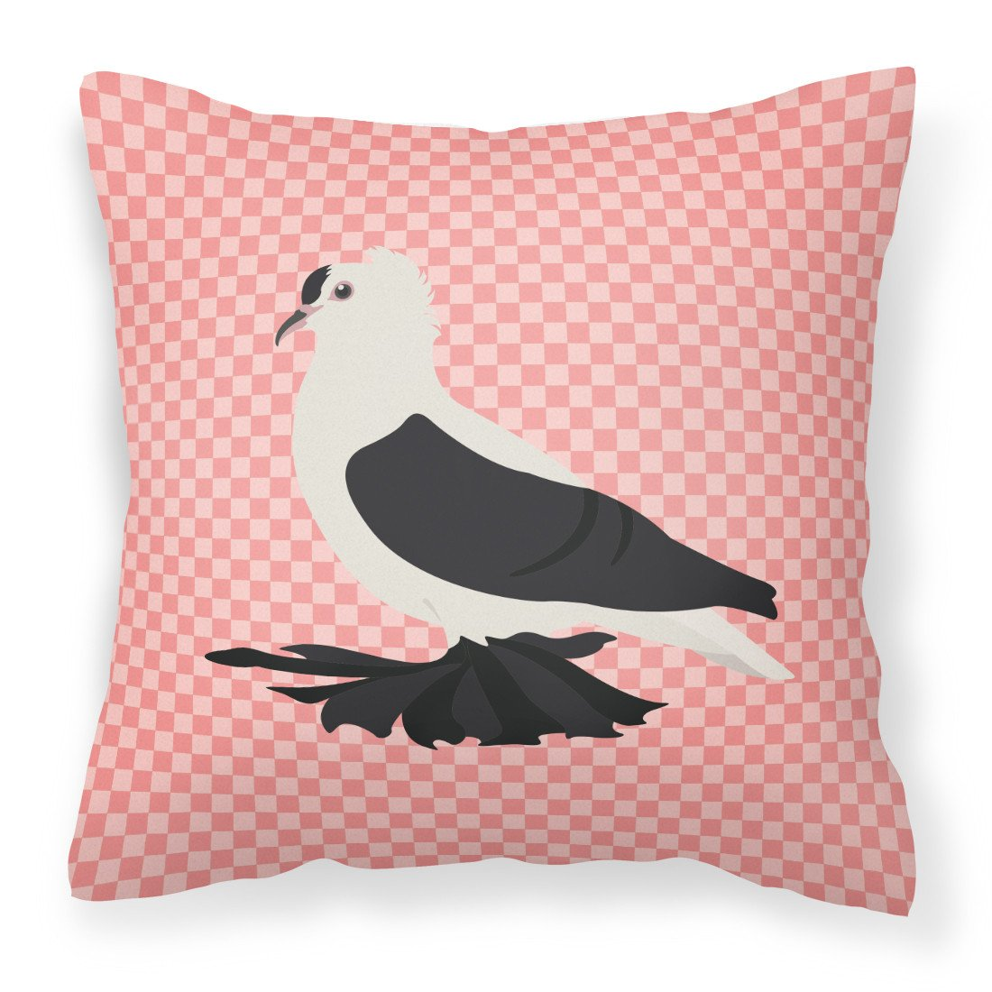 Buy this Saxon Fairy Swallow Pigeon Pink Check Fabric Decorative Pillow BB7946PW1818