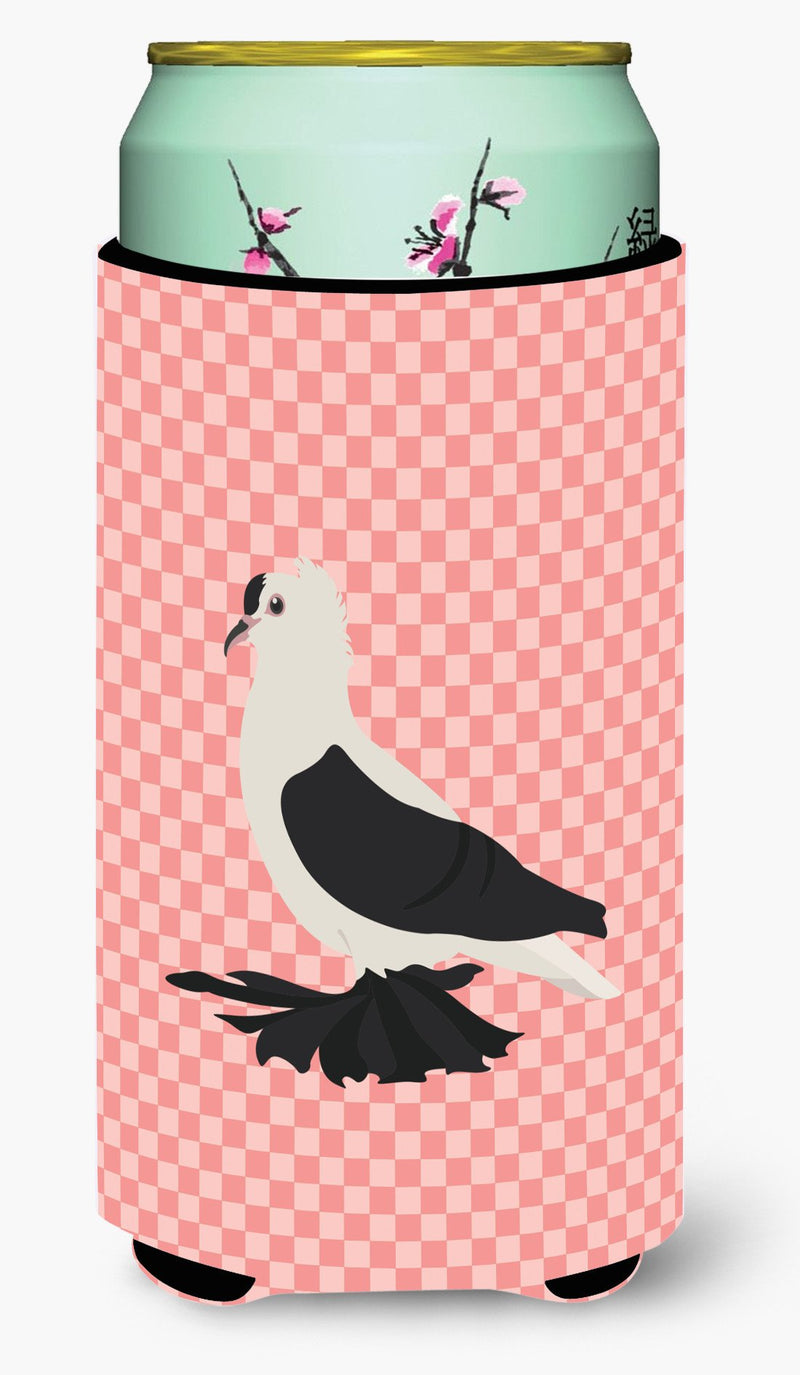 Buy this Saxon Fairy Swallow Pigeon Pink Check Tall Boy Beverage Insulator Hugger BB7946TBC