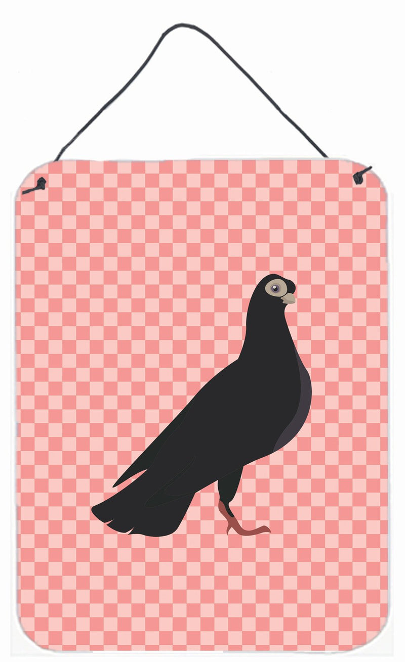 Buy this Budapest Highflyer Pigeon Pink Check Wall or Door Hanging Prints BB7947DS1216