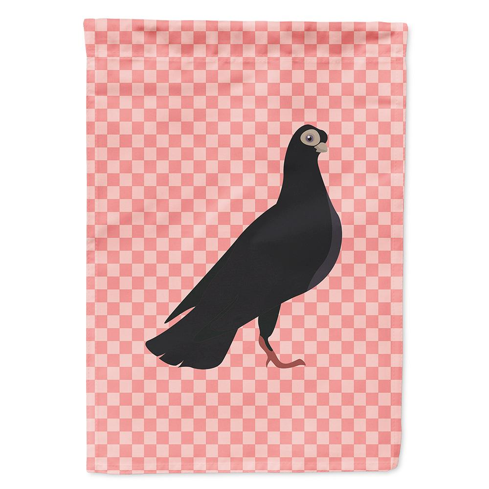 Buy this Budapest Highflyer Pigeon Pink Check Flag Garden Size
