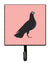Buy this Budapest Highflyer Pigeon Pink Check Leash or Key Holder