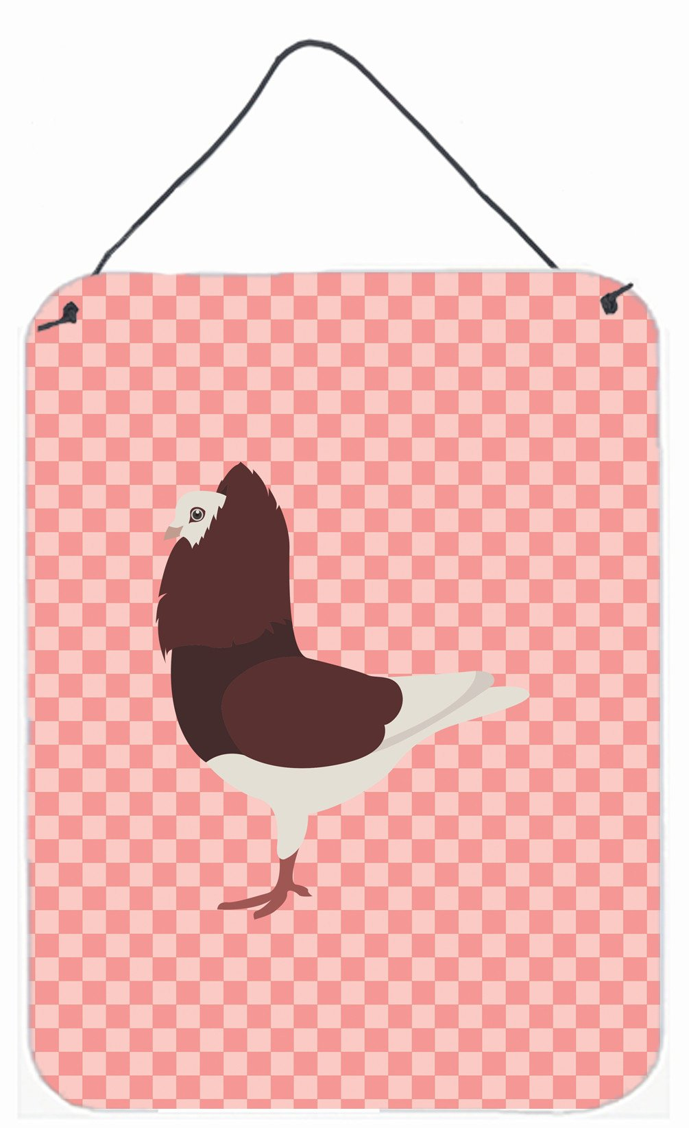 Buy this Capuchin Red Pigeon Pink Check Wall or Door Hanging Prints BB7948DS1216