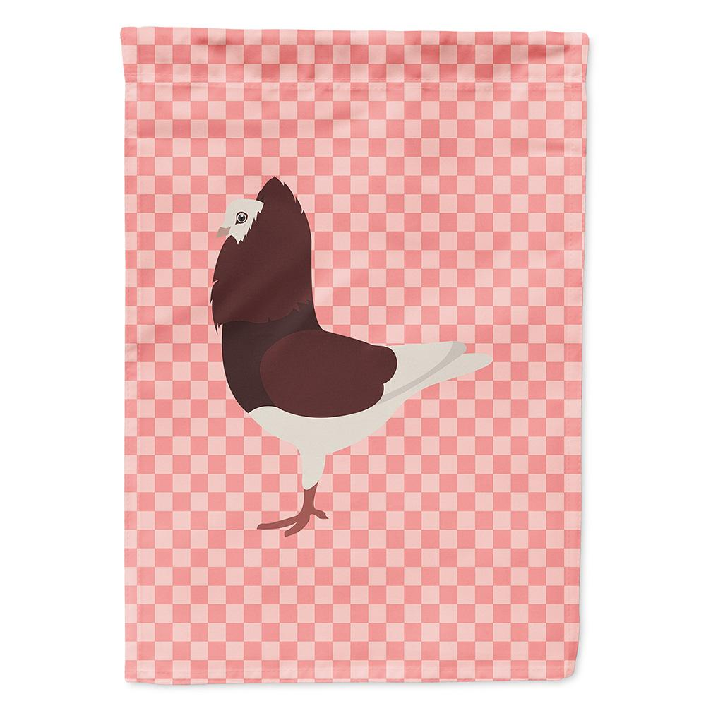 Buy this Capuchin Red Pigeon Pink Check Flag Garden Size