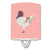 German Modena Pigeon Pink Check Ceramic Night Light BB7949CNL by Caroline's Treasures