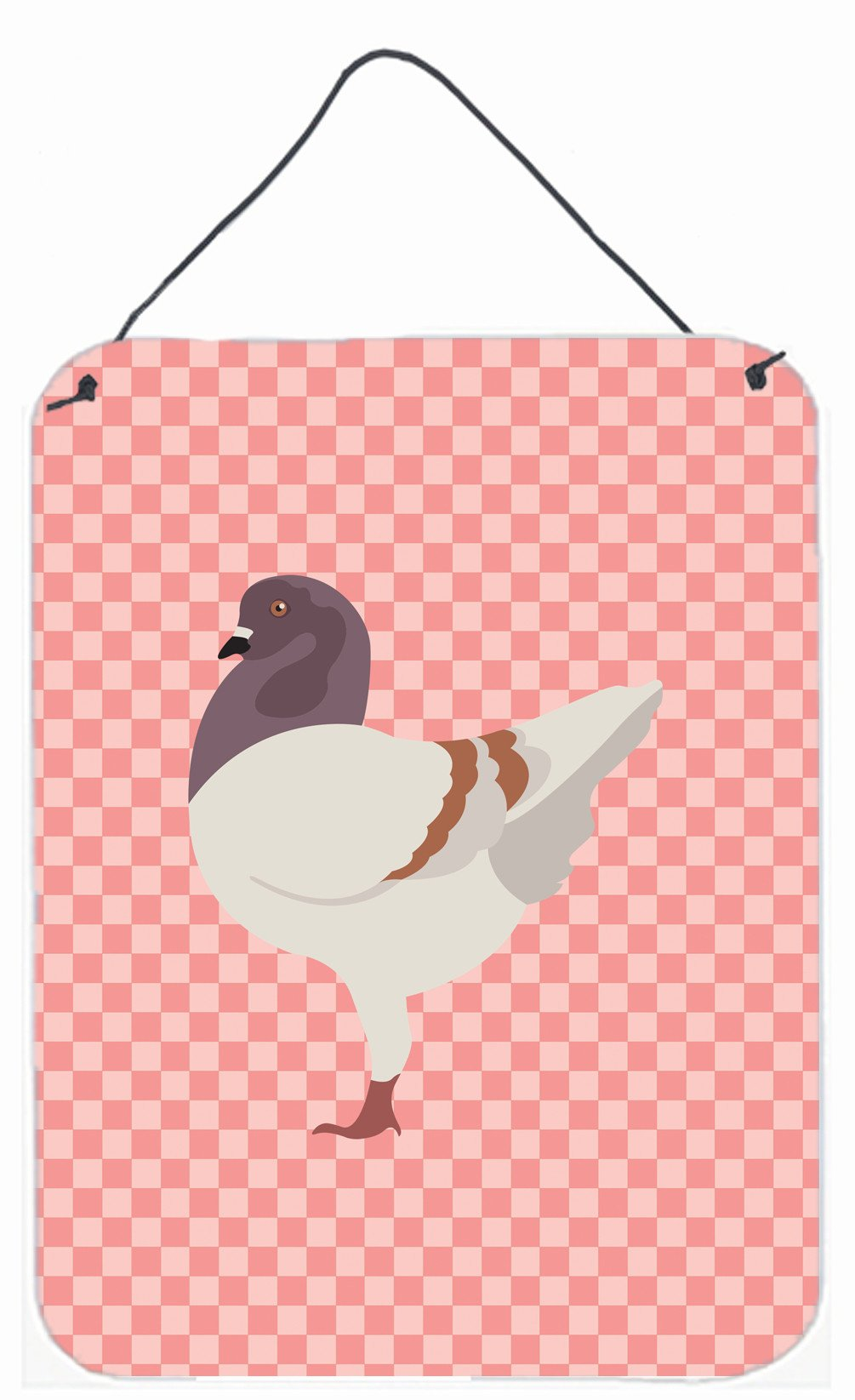 Buy this German Modena Pigeon Pink Check Wall or Door Hanging Prints BB7949DS1216
