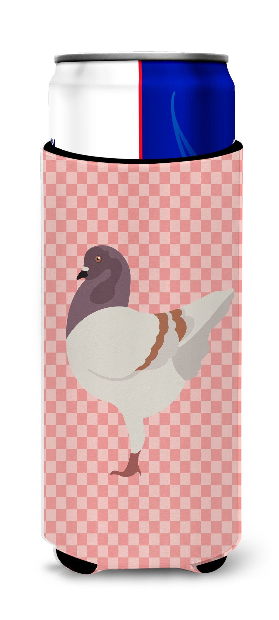 Buy this German Modena Pigeon Pink Check Michelob Ultra Hugger for slim cans